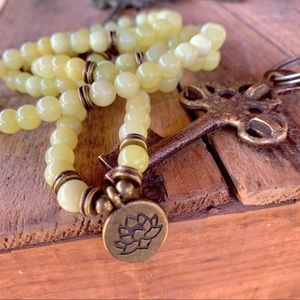 🆕🆕✨MATTE LEMON TOPAZ MALA NECKLACE/BRACELET 6mm
